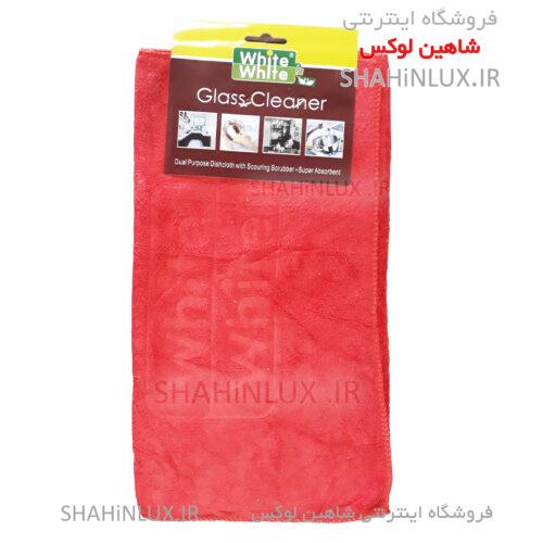 دستمال بدنه میکروفایبر وایت اند وایت قرمز